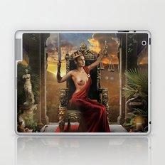 XI. Justice Tarot Card Illustration (Color) Laptop & iPad Skin