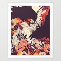 crow Art Prints featuring Harbors & G ambits by Teagan White