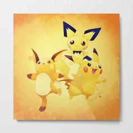 thunders! - Pokémon Metal Print