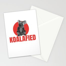 Highly Koalafied Teacher print Funny graphic Stationery Cards