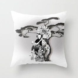 Morgenspaziergang Throw Pillow