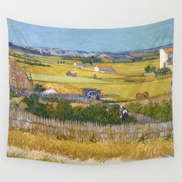 1888-Vincent van Gogh-The harvest-73x92 Wall Tapestry