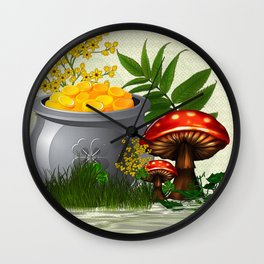Clover Trail Whimsical Folk Art Wall Clock