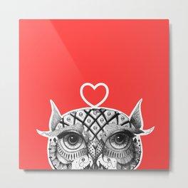 Owl R Metal Print