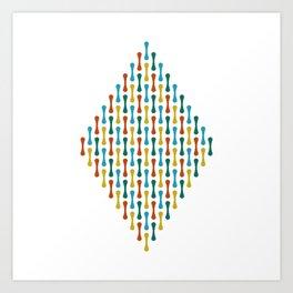 Chromosome   White Art Print