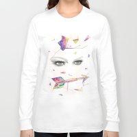 zodiac Long Sleeve T-shirts featuring Zodiac - Sagittarius by Simona Borstnar