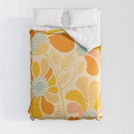 Sunny Flowers / Floral Illustration Comforters