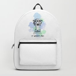 Greyhound with glasses Backpack