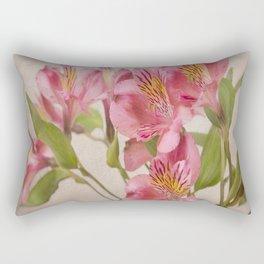 Pink Peruvian Lilies Alstroemeria Rectangular Pillow
