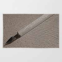 pen Area & Throw Rugs featuring Pen Nib by Rose Etiennette