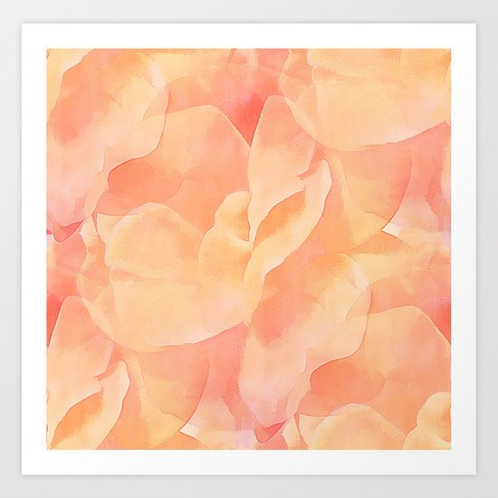 Nothing But Peach Art Print