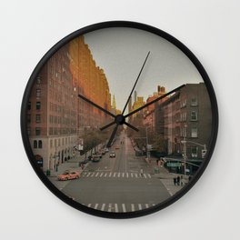 The Yellow Muted City (Color) Wall Clock