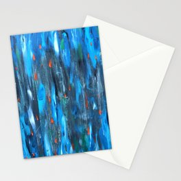Goldfish - abstract expressionist artwork Stationery Cards