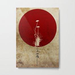 Ikebana Metal Print