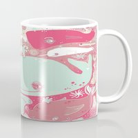 whales Mugs featuring Whales by Amy Gale