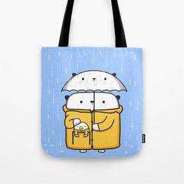Opi y Kipi en la lluvia Tote Bag