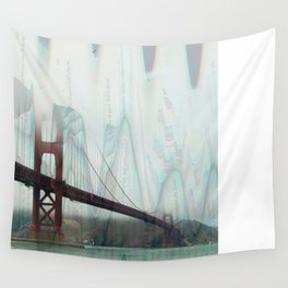 golden gate squiggles Wall Tapestry