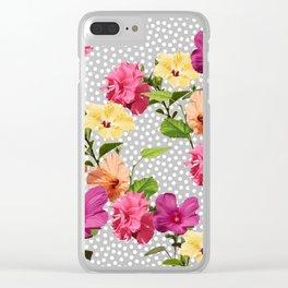 Botanical Mix Clear iPhone Case