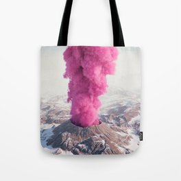 Pink Eruption Tote Bag