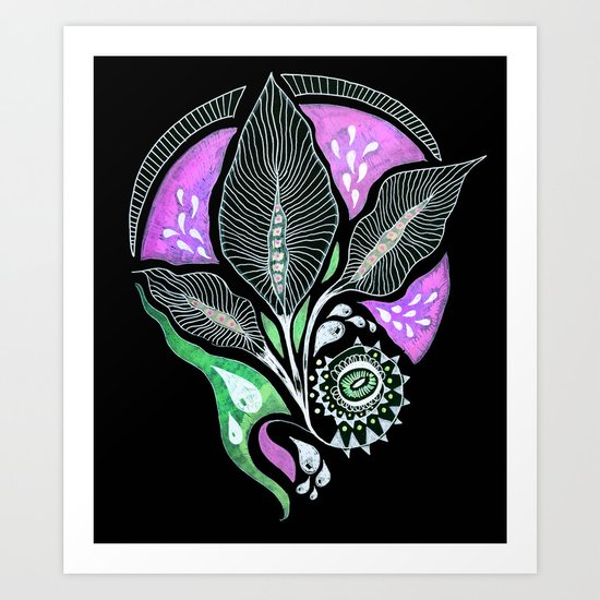 Pink Bloom Art Print