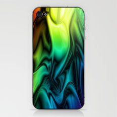 Rainbow Colors Soft Silk iPhone & iPod Skin