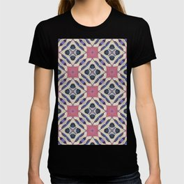 lattice work collage T-shirt