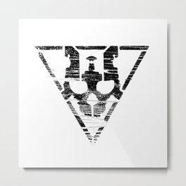 Warsheh Skull Metal Print