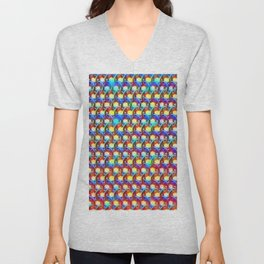Rainbow chain mail Unisex V-Neck