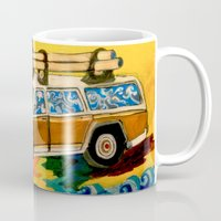 hunting Mugs featuring Gold Hunting by C Z A V E L L E