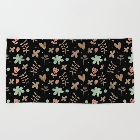 Colorful Lovely Pattern III Beach Towel