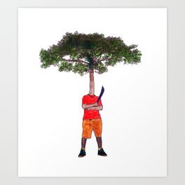 Warrior tree Art Print