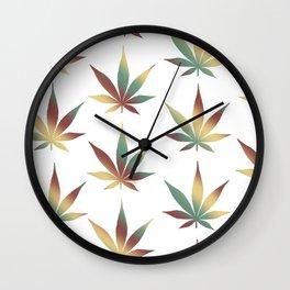 Rasta Leaves Wall Clock
