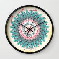 mandala Wall Clocks featuring Mandala by famenxt