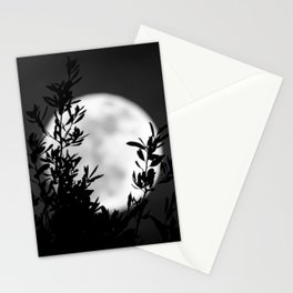 Full Moon Leaves Stationery Cards