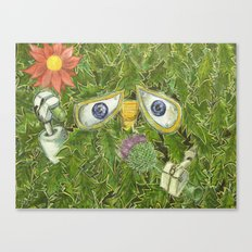 wall-E in the bushes Canvas Print