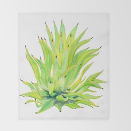 Sunlit Octopus Agave Throw Blanket