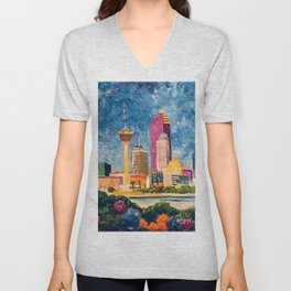 San Antonio Celebration Unisex V-Neck
