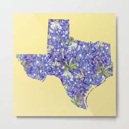 Texas in Flowers Metal Print