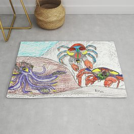Cuttlefish & Coconut Crabs Rug