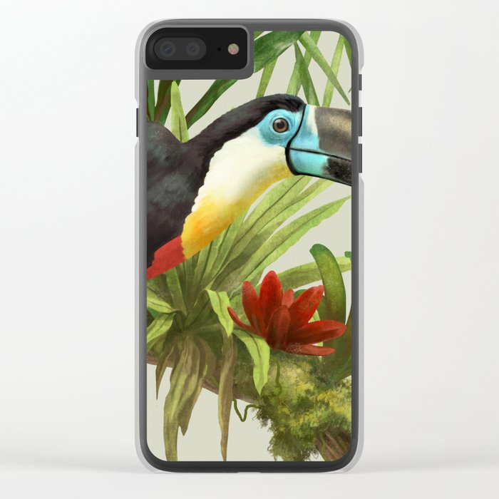 Channel- billed toucan vintage illustration. Clear iPhone Case