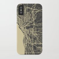 cleveland iPhone & iPod Cases featuring Cleveland map by Map Map Maps
