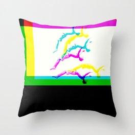 DIVE STRECH ART Throw Pillow