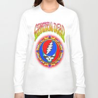 grateful dead Long Sleeve T-shirts featuring Grateful Dead #8 Optical Illusion Psychedelic Design by CAP Artwork & Design