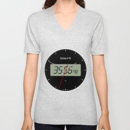 Digital Clock 01 Unisex V-Neck