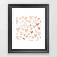 fun hearts Framed Art Print