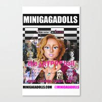 artrave Canvas Prints featuring artRAVE minigadolls by Sergiomonster