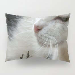 Close Up Of A Piebald Cat Pillow Sham