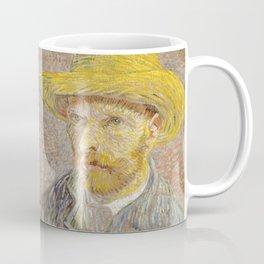 Self Portrait with Straw Hat by Vincent Van Gogh Coffee Mug