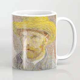 Self Portrait with Straw Hat by Vincent Van Gogh Coffee Mug