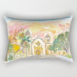 Mission San Carlos Borromeo in Carmel By The Sea Rectangular Pillow